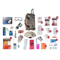 4 Person Elite Survival Kit (72 Hours) Camo Wheel Bag