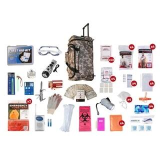 4 Person Elite Survival Kit (72 Hours) Camo Wheel Bag