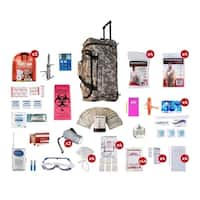 4 Person Deluxe Survival Kit (72 Hours) Camo Wheel Bag