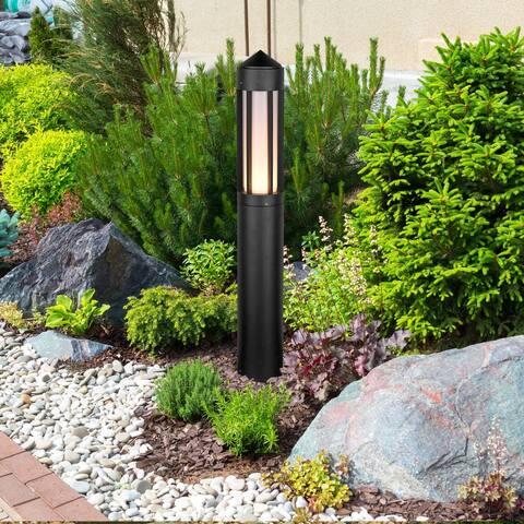 """VONN Lighting 32"""" Modern VOB38168BL Low-Voltage 6-Watt Integrated LED Outdoor Bollard in Matt Black"""