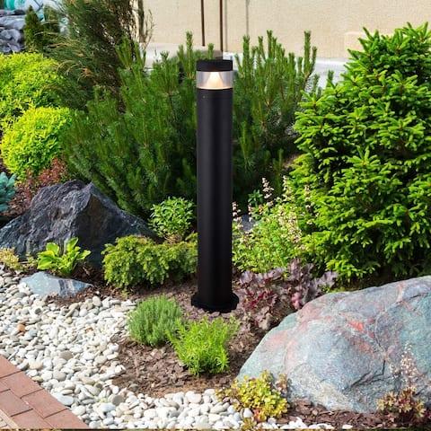 """VONN Lighting 32"""" Modern VOB21468BL Low-Voltage 7-Watt Integrated LED Outdoor Bollard in Matt Black"""