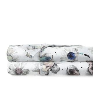 22-inch Extra Deep Pocket Luxury Cotton Watercolor Symphony 4-piece Sheet Set