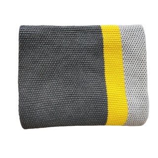 Citra - Grey/yellow - Cotton throw Blanket