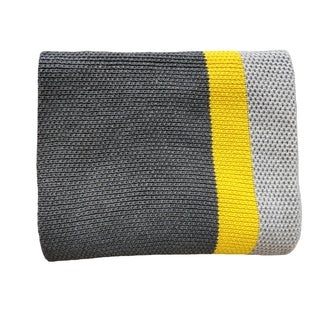 Citra - Grey/yellow - Cotton throw Blanket