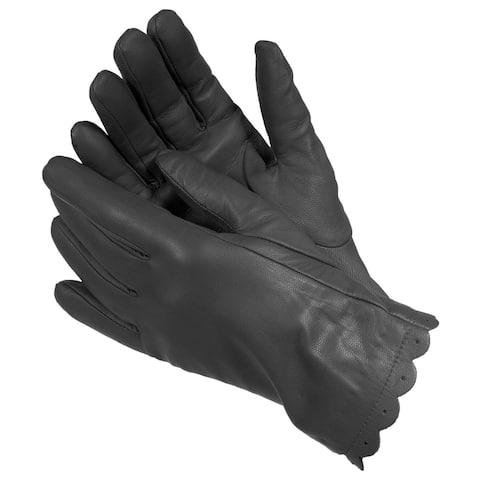 Isotoner 40170 Women's Leather SmarTouch Touchscreen Gloves Black