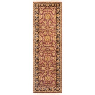 ECARPETGALLERY  Hand-knotted Sultanabad Burgundy Wool Rug - 3'1 x 9'7