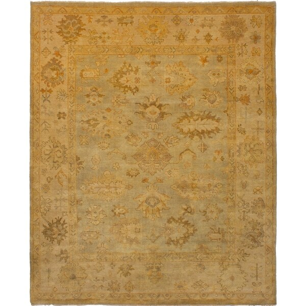 ECARPETGALLERY Hand-knotted Royal Ushak Grey Wool Rug - 8'0 x 9'10