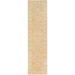 ECARPETGALLERY  Hand-knotted Chobi Finest Beige Wool Rug - 2'7 x 10'2