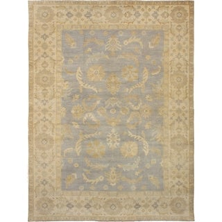 ECARPETGALLERY  Hand-knotted Elysee Finest Ushak Light Violet Wool Rug - 9'4 x 12'7