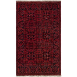 ECARPETGALLERY  Hand-knotted Finest Khal Mohammadi Red Wool Rug - 3'10 x 6'5