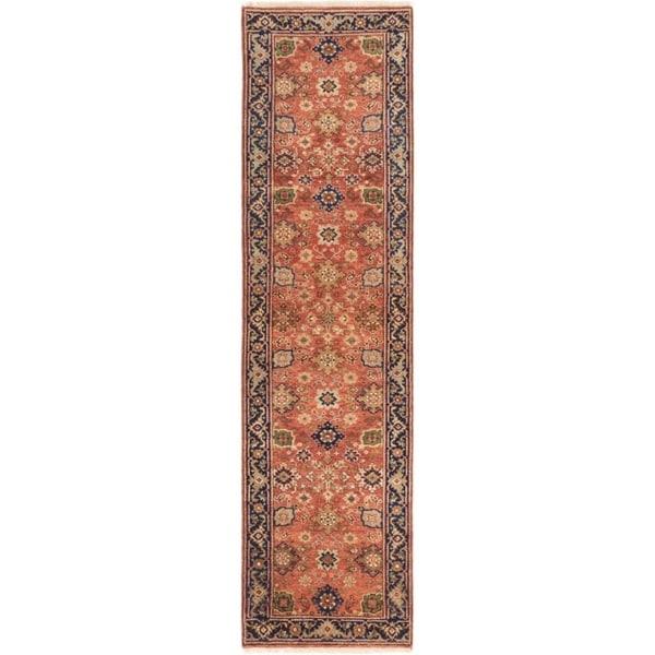 ECARPETGALLERY Hand-knotted Serapi Heritage Dark Copper Wool Rug - 2'8 x 10'1