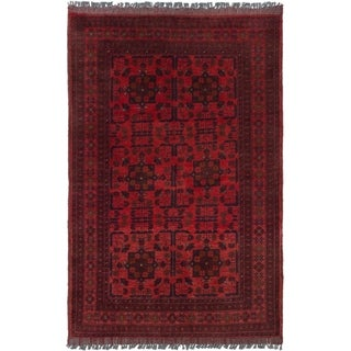ECARPETGALLERY  Hand-knotted Finest Khal Mohammadi Red Wool Rug - 3'3 x 5'2