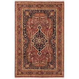 ECARPETGALLERY  Hand-knotted Serapi Heritage Dark Red Wool Rug - 5'4 x 8'5