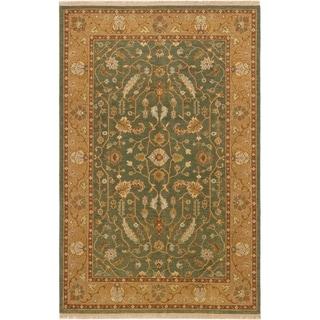 ECARPETGALLERY  Flat-weave Lahor Finest Teal Wool Sumak - 5'8 x 8'8