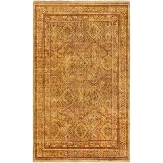 ECARPETGALLERY  Hand-knotted Royal Mahal Light Brown Wool Rug - 5'1 x 8'5