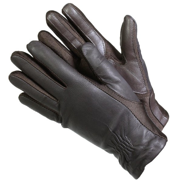 0f855eb942a77 Shop Isotoner 40262 Women's Leather SmarTouch Touchscreen Gloves Brown -  Free Shipping On Orders Over $45 - Overstock - 25458526