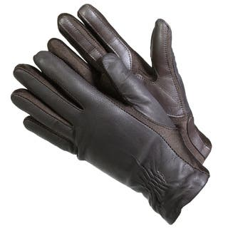 Isotoner 40262 Women's Leather SmarTouch Touchscreen Gloves Brown