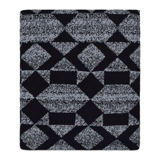 Link to Daza - Shapes multi - Dk grey mel/black - Cotton throw blanket Similar Items in Blankets & Throws