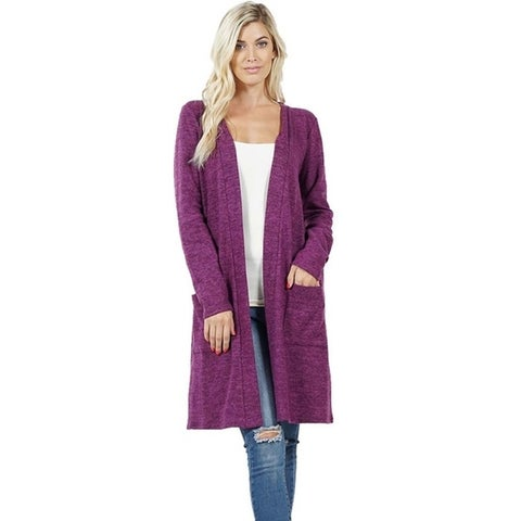 JED Women's Marled Brushed Knit Cardigan