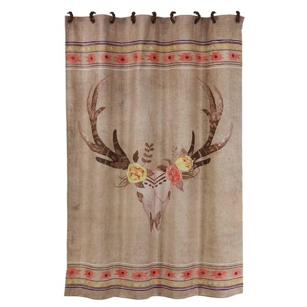 Shop HiEnd Accents Desert Skull Shower Curtain 72x72