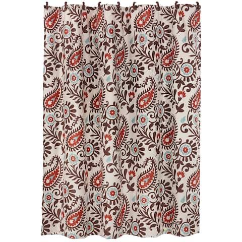 HiEnd Accents Rebecca Shower Curtain, 72x72