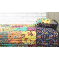 Cotton Veil Collection Bohemian Patch Quilt Set