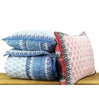 Cotton Veil Collection Hand blocked Mosaic Quilt Set