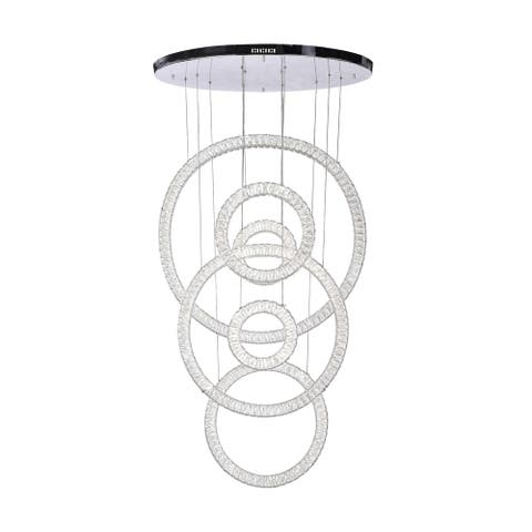LED Chandelier with Chrome Finish