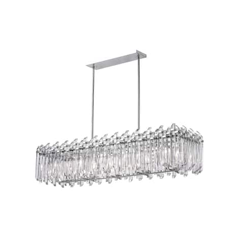 10 Light Chandelier with Chrome Finish