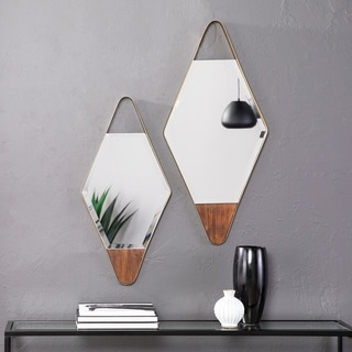 Link to Holly & Martin Rawlins Gold Diamond Wall Mirrors - 2pc Set Similar Items in Living Room Furniture