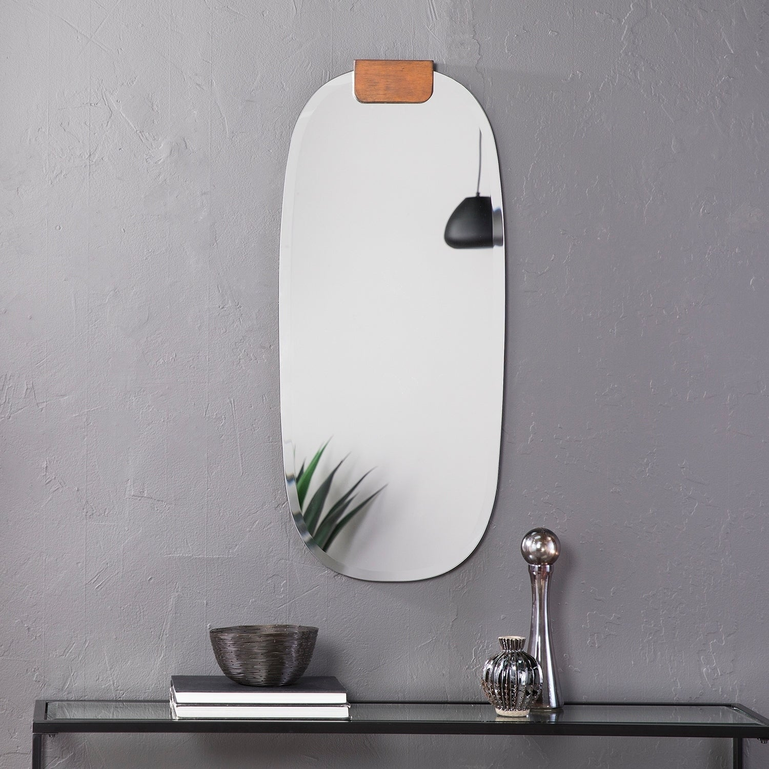 Holly Martin Haws Frameless Oval Wall Mirror Overstock 25458724