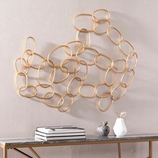 Silver Orchid Svendsen Abstract Metal Wall Sculpture