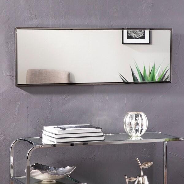 Silver Orchid Bech Hanging Rectangular Mirror - Black