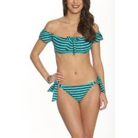 Betty's Beach Bungalow Off the Shoulder Top with swim brief - Set