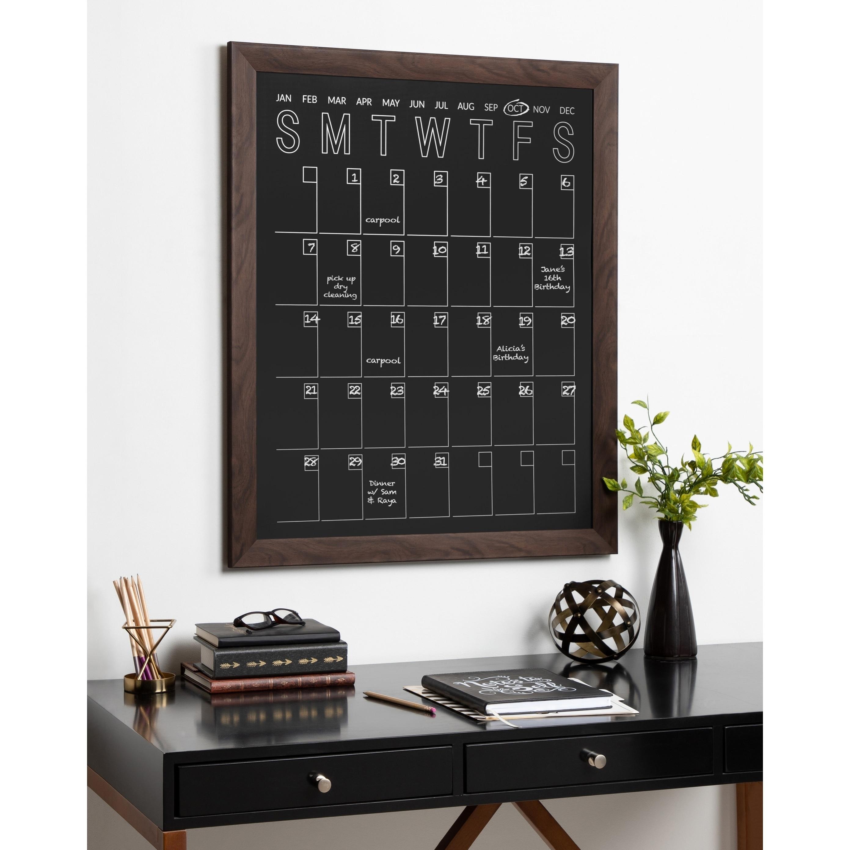 Shop Designovation Beatrice Framed Vertical Magnetic Chalkboard