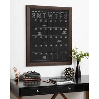 DesignOvation Beatrice Framed Vertical Magnetic Chalkboard Calendar