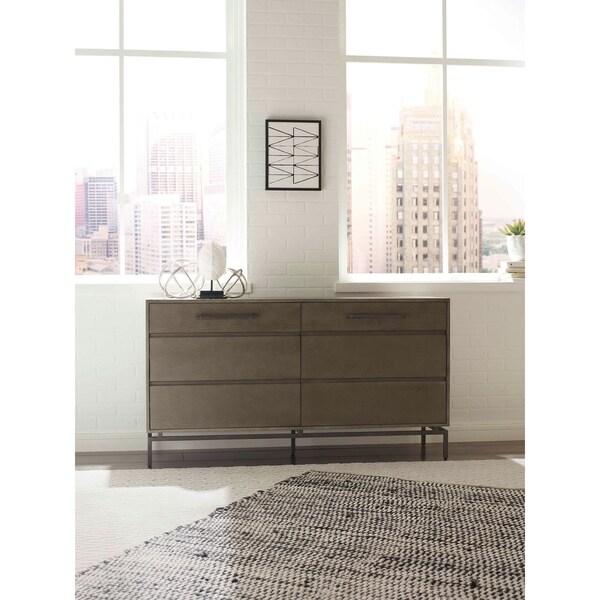 Tommy Hilfiger Ascher 6 Drawer Dresser in Nantucket Gray