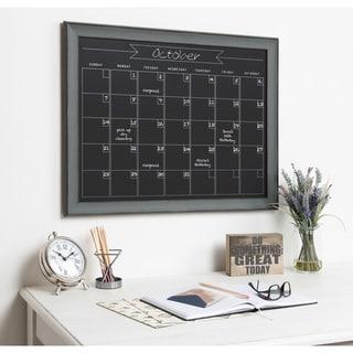 Kate and Laurel Kenwick Framed Magentic Chalkboard Calendar - 29x23