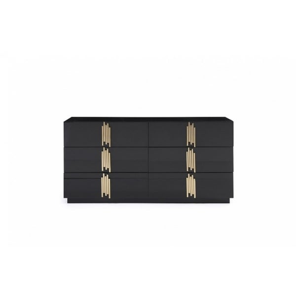 Modrest Token Modern Black & Gold Dresser