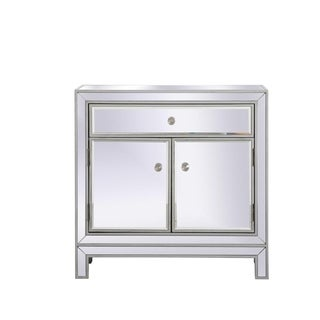 29 in. Antique Mirrored Cabinet