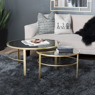 Silver Orchid Berle Modern Round Nesting Coffee Table Set