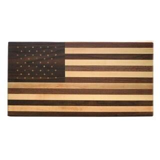 Walnut and Maple Wood United States Flag Cutting Board