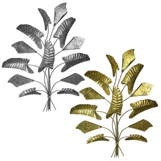 Essential Decor Beyond Iron Leaves Wall Decor En18523 Overstock 25458913