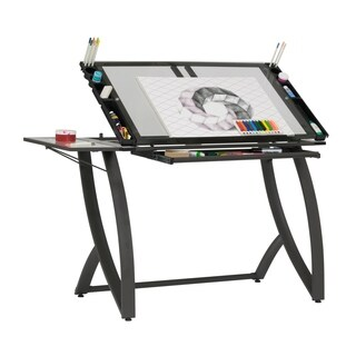 Studio Designs Futura Luxe Drawing / Craft Table with Drawer and Folding Side Shelf
