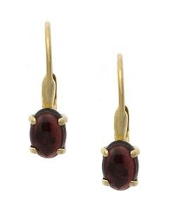 Glitzy Rocks 18k Gold Over Sterling Silver Garnet Earrings