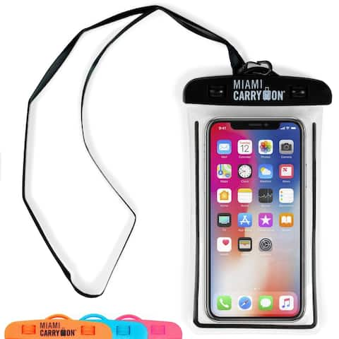 Miami CarryOn IPX8 Universal Waterproof Case, Cellphone Dry Bag, Strap