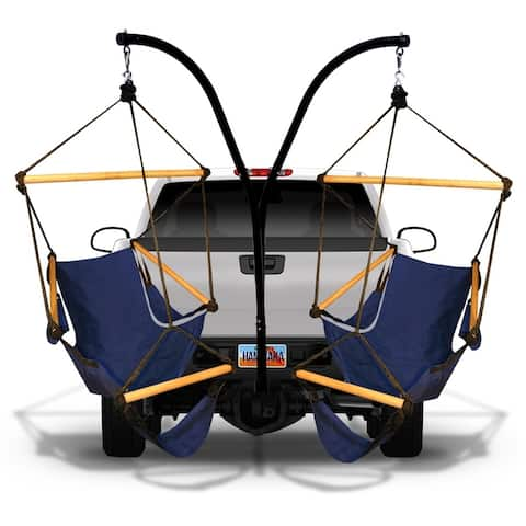 Hammaka Hammock Hitch Stand with Two Cradle Chairs and Parachute Hammock