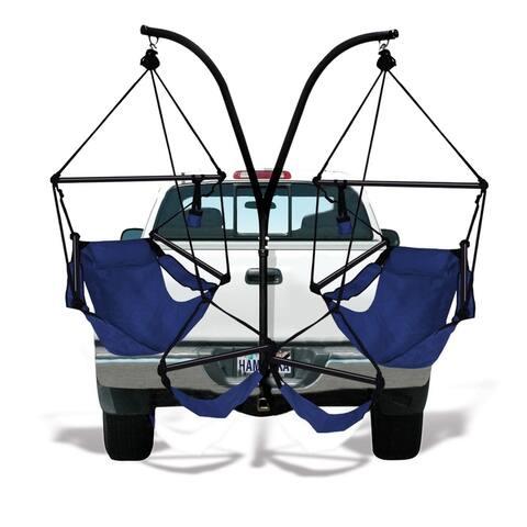 Hammaka Trailer Hitch Stand with Hammaka Chairs Combo - Aluminum Dowels