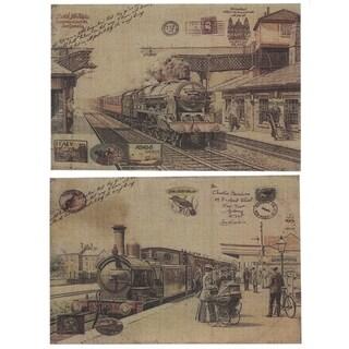 Essential Decor & Beyond '2pc. Burlap Train' EN2773 - Multi