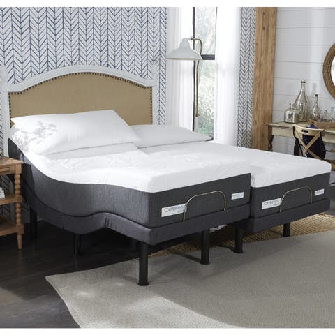 ComforPedic from BeautyRest 12-inch NRGel Mattress and Adjustable Bed Set